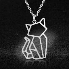 Vnistar Unique Design Amazing Quality 100% Stainless Steel  Animal Cat Pendant Necklace for Women Fashion Jewelry Special Gift