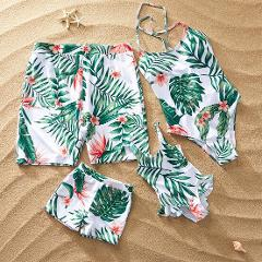 Matching Family Bathing Suits One peice Swimsuit For Mom and Daughter Swimsuits Female Children Men Boy Baby Kid Beach Swimwear