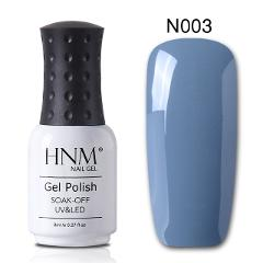 HNM UV 8ML UV Gel Nail Polish Grey Nude Color Series For Nail Art Soak Off Lucky Varnish Lacquer Painting GelLak Base Top Coat