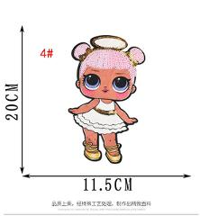 LOL doll surprise cloth stickers cute patch stickers decorative embroidery children's decoration patch hole