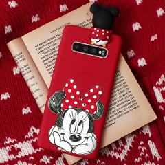 Cartoon 3D Doll Silicone Case For Samsung Galaxy A50 A70 A40 A50S A60 A7 A9 A8 A6 Plus 2018 A3 A5 2017 M10 M20 M30 M40 Case Gift