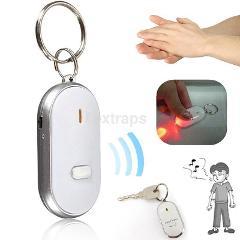 White LED Whistle Car Key Finder Seeker Locator Find Lost Keys Keyring Gadgets