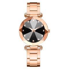 Hot Selling Women Watches Starry Sky Female Clock Quartz Wristwatch Luxury Glass Gemstone Ladies Wrist Watch Alloy Strap  533
