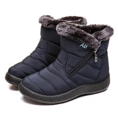 Snow Boots Plush Warm Ankle Boots For Women Winter Boots Waterproof Women Boots Female Winter Shoes Zip Booties Free Shipping