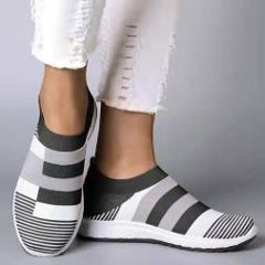 New Women Sneakers Vulcanized Shoes Sock Sneakers Women Summer Slip On Flat Shoes Women Plus Size Loafers dropshipping