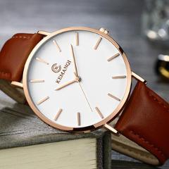 Fashion KEMANQI Watches 6.5mm Ultra-thin Men's Watch 2019 Simple Business Men Quartz Watches Male Clock relogio masculino