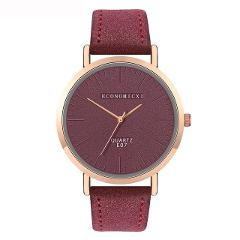 ECONOMICXI Watches Women Fashion Leather Band Analog Quartz Square Quartz Wrist Watch Watches Gift Clock Relogio Feminino