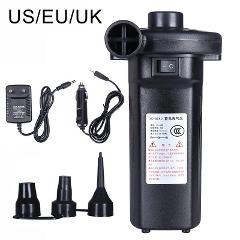 Electric Air Pump Inflator 12V 220V Battery Rechargeable Air Compressor Portable For PVC Boat Mattress Inflatable Pool Raft Bed