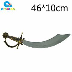 Toy Swords Halloween Costume Party Props Plastic Sword Toy Pirates Sword Foam Simulation Pirates Sword Kid Cosplay Gifts