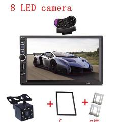 2 Din General 7'' inch LCD Touch Screen Car Radio Player Bluetooth Car Audio Support Rear View Camera+ steering wheel