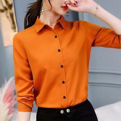 Brand Blusas Mujer De Mod Tops Long Sleeve Lapel White Blouse Office Ladies Work Blouses Fashion Clothing Blusas Womens Shirts