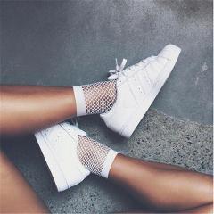 1 Pair Fashion 2017 Cute Casual Women  Fishnet Mesh Lace Fish Net  Ankle High Short Socks White Colors