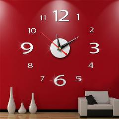 New Clock Watch Wall Clocks Horloge 3d Diy Acrylic Mirror Stickers Home Decoration Living Room Quartz Needle