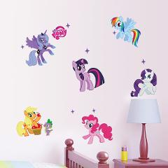 Cartoon My Little Pony Wall Stickers For Kids Room Decoration Anime Animal Unicorn Wall Mural Art Pvc Movie Poster Home Decals