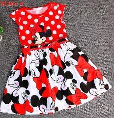 2018 Summer Children's Clothing  Children's Wear  Children's Princess Minnie Dress  Fashion Korean Version