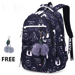 Puimentiua Children School Backpacks Korean Style Girls School Bags Large Capacity Flower Printing Backpack Bag For Kids Mochila