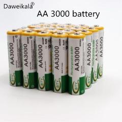 2018 lot 1.2V 3000mAh NI MH AA Pre-Charged Rechargeable Batteries Ni-MH Rechargeable aa Battery For Toys Camera Microphone