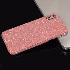 Glitter Powder Protective Film Sticker for iPhone 11 Pro Max X XS XR Full Body Anti Scratch Protective Skin Cover Case for 7 8