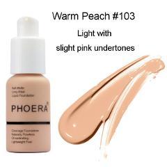PHOERA Soft Matte Long Wear Foundation Liquid Face Makeup Coverage Foundation Naturally Concealer Oil-controling Lightfeel Cream