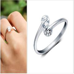 925 Sterling silver Ring Fashion Lady Ring Opening Adjustable Gift