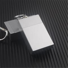 Fashion Portable Ashtray With lid Keychain Pocket Mobile Ashtray auto aschenbecher Mini Cigarette Metal Bottle Storage Package