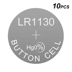 Alkaline Button Calculator Battery Watch Cell LR1130 1.5V LR Coin AG10 Equivalences 189 389 389A D389 LR1131 LR54 G10A RW49 V389
