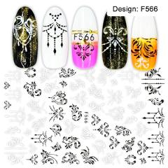 1pc Nail Sticker Black Letter Water Slider Flower Flamingo Summer Nail Art Transfer Decals Manicure Wraps Foils Tool LEF554-563
