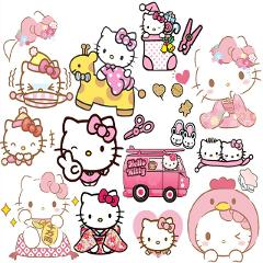 Uncut A5 the Brown bear/ Hello kitty Stickers without cutting Decoration DIY Ablum Diary Scrapbooking Gift For Children