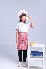 Kids Chef Roleplay Uniform Cook Costumes Baby Girl Boy Halloween Party Wear Fancy Children Clothing Set Fancy Festival Clothes