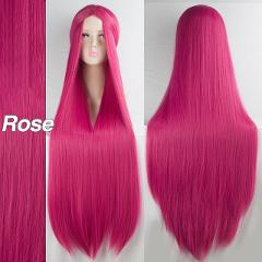 """LiangMo Green Purple Black Wig 100CM/40"""" Synthetic Heat Resistant Fiber Long Carnival Costume Cos-play For Party Straight Hair"""
