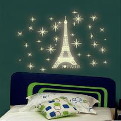 A Set Wall Stickers home decor for Kids Bedroom Fluorescent Glow In The Dark Stars Wall Stickers #E0