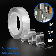 Reusable Double-Sided Adhesive Magic Nano tape 1M/2M/3M Washable Transparent Nano Tape Indoor Outdoor No Trace Gel Sticker