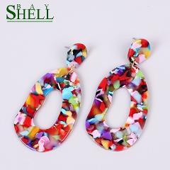 Shell Bay Crystal Earrings Jewelry 2020 Drop/Red Earrings for Women Fashion Long Earrings Zirconia Bridal Earring Girls Wedding