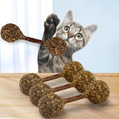Natural Cat Catnip Treat Balls Chewing Teeth Cleaning Treats Lollipop Natural Catnip Lollipop Shape Funny Ball Pet Supply