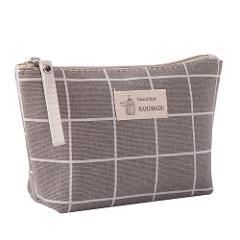 eTya Women Cosmetic Bags Ladies Zipper Makeup Bag Canvas Phone Coin Handbag Travel Neceser Beauty Wash Organizer Bag Pouch