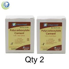 2X Dental Polycarboxylate Luting Crown & Bridge Cement Kit Sensitive Teeth