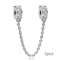 TOGORY 2Pcs/lot Silver Feather Ferris Wheel Pendant fit Pandora Charms Bracelets DIY Jewelry Women Silver Jewelry Accessories