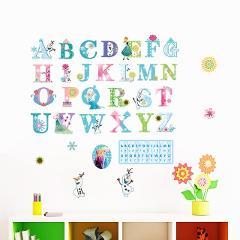 cartoon disney princess height measure wall stickers for kids rooms nursery home decor frozen Elsa Anna growth chart wall decals