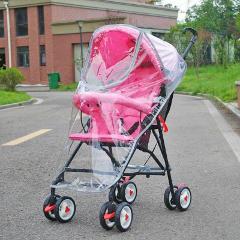 Stroller Accessories Transparent Rain Cover Fashionable Big Cart Zipper Raincoat Dust Shield Necessary Baby Outdoor Supplies