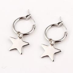 Endless Circle Hoop Earrings Handmade Silver Gold Color Simple Star Earring For Women Men Chic  Jewelry Charms hoop earrings