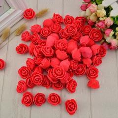 50 pcs PE Foam fake flower roses head artificial flowers cheap wedding decoration for scrapbooking gift box diy wreath Multi-use