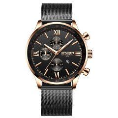 DENGQIN Men's Wrist Watch Stainless Steel Casual Quartz Analog Date Watch Man Watches Mens Clock Relogio Masculino 2019