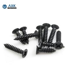 100Pcs M1 M1.2 M1.4 M1.7 M2 M2.3 M2.6 DIN7982 KA Black Self-tapping Screws Countersunk Flat Head Electronic Small Screws SS12