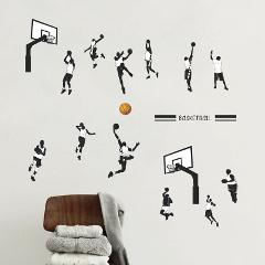 Creative Basketball Sports Dunk wall sticker Bedroom living room decoration mural home decor stickers poster decals wallpaper