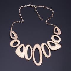 Seblasy Collier Femme Gold Color Hollow Geometric Matte Alloy Punk Necklaces & Pendants Choker Statement Necklaces For Women