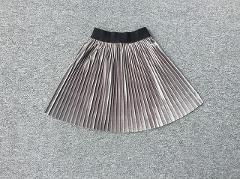 New velvet pleated skirt knee long girls skirt summer winter casual smooth skirt girl tutu high waist elastic pleated skirt