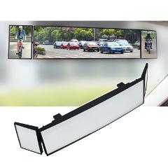 Universal Car rearview mirror wide angle panorama Anti-dazzling Tri-fold surface reversing large field of view Rearview  mirror