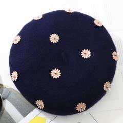 Wool Women Winter berets New pearl Wool Solid Color Beret Female Bonnet Caps Winter All Matched Warm Walking Hat Cap casquette