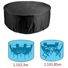 Oxford cloth Round Waterproof Cover Outdoor Furniture Dustproof Sofa Table Chair Protective Case Garden Furniture Set Cover