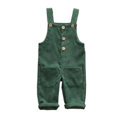 2020 Newest Hot Child Toddler Boys Kids Solid Overalls Suspender Trousers Casual Corduroy Baby Bib Pants Solid Outwear 0-5T